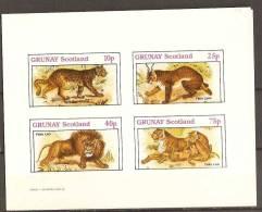 Grunay Wild Cat / Chat   Sheet Imperf - Raubkatzen