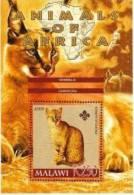 Malawi Cat / Chat    Monkey Hippopotame  Souvenir Sheet - Hauskatzen