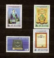 Saint Kitts St-Christophe 1985 Yvert n� 592-95 *** MNH Cote 13,50 euro
