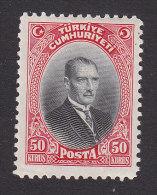 Turkey, Scott #681, Mint Hinged, Mustafa Kemal Pasha, Issued 1929 - Nuevos