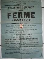 Affiche 1923 Location D´une Ferme à Breuvanne (Tintigny) Habay Willancourt (Musson) - Documentos Antiguos