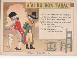 Belle CPA  Illustrée PUB Alcool De Menthe  RICQLES CHANSONS Françaises J' Ai Du Bon TABAC - Advertising