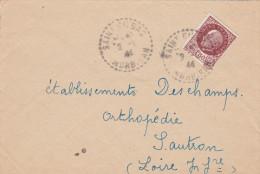 Saint-Gildas De Rhuys - Agence Tiretée 1944 - Morbihan Sur Pétain - Postmark Collection (Covers)