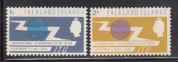 Falkland Islands MNH Scott #154-#155 Set Of 2 ITU Centenary - Falkland