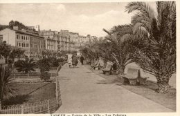 C3476  Cpa Maroc -  Tanger, Entrée De La Ville, Les Palmiers - Tanger