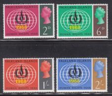 Falkland Islands MNH Scott #162-#165 Set Of 4 International Human Rights Year - Falkland