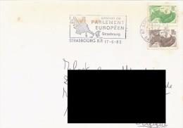 FRANCE. POSTMARK. STRASBOURG. EUROPEAN PARLIAMENT. 1982. FLAMME - Marcofilia (sobres)