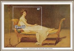 RWANDA Madame Recamier By DAVID,unused,art - Rwanda