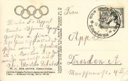 OLYMPISCHE SPIELE-OLYMPIC GAMES, Deutsches Reich / GERMAN REICH, 1936, Special Postmark !! - Summer 1936: Berlin