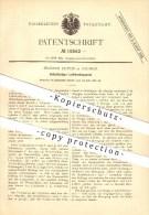 Original Patent - Prosper Dupuis In Aachen , 1881 , Selbsttätiger Luftdruckapparat , Luftdruck , Druck !!! - Historische Dokumente