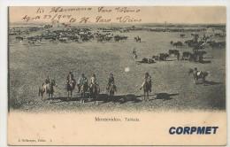 URUGUAY - MONTEVIDEO - 1904 Tablada - Editor E. Dellazoppa - Ganado Y Gauchos A Caballo - Uruguay