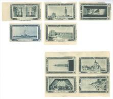 Lot De 9 Vignettes Bleu Provenant Du Carnet Journées Nationales De Juillet 1929 - Commemorative Labels