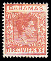 BAHAMAS - Scott #102 King George VI / Mint LH Stamp - Bahamas (...-1973)
