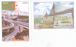 Algeria New Issue 2014,National Realisation 2v. Compl. Set MNH  Bridge,Highway -SKRILL PAYMENT ONLY - Algeria (1962-...)