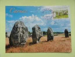 CARTE MAXIMUM CARD MENHIR DE CARNAC MORBIHAN FRANCE - Cartoline Maximum