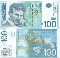 SERBIA 100 DINARA 2013. UNC NEUF  Prefix AC - Serbia