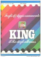 FOGLI MARINI KING ITALIA REPUBBLICA - 22 Fori - Annata 1995 + LIBRETTI Completa Di Almanacco - Perfetti - Fogli Prestampati
