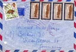 ECUADOR 1965 - 5 Fach Frank.a. LP-Brief V.Ecuador N.Berlin - Ecuador