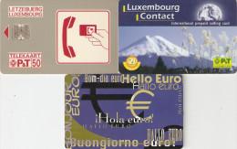 *LUSSEMBURGO* - Lotto Di 3 Schede Usate Differenti - Lussemburgo