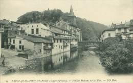 64 - SAINT-JEAN-PIED-de-PORT  - Vieilles Maisons Sur La Nive - Saint Jean Pied De Port