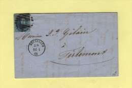 Bruxelles - 24-4-1861 - Destination Tirlemont - Belgio