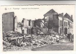 Poperinge, Poperinghe Uitgebrande huizen Boeschepestraat (pk16724)