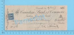 Danville Quebec1926 Check Cheque ( $31.12, Alexandre Murray,Tax Stamp FX 36 )  2 SCANS - Chèques & Chèques De Voyage