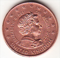 GRAN BRETAÑA 2002 50 CENT  ELISABETH II PRUEBA EN COBRE. RARA    EBC   CN4306 - EURO