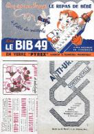 """Buvard :  Lot  De 3 => """"BIB49"""" +  """"Anti Urique"""" + """"Jeux De Notre Temps"""" - Other Collections"""