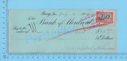 Bury 1939 Cheque ( $69.84 , A. & A. Lizotte Bros., Stamp Scott #248 )Quebec Qc. 2 SCANS - Cheques & Traveler's Cheques