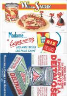 "Buvard :  Lot  De 3  (Alimentation)  =>  ""William Saurin""  +  ""Riz Caroline"" + ""Deltalose"" - Autres"