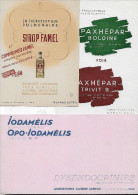 "Buvard :  Lot  De 3  (médecine - Médicament)  =>  ""Sirop Famel""  +  ""Paxhepar"" + ""Iodamélis"" - Other"