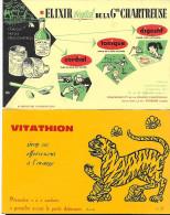 "Buvard :  Lot  De 2  (médecine - Médicament)  =>  ""Elixir Gde Chartreuse""  +  ""sirop Vitathion"" - Other Collections"