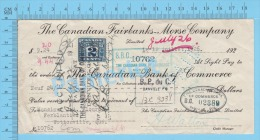 Danville 1926 Collection  ( $9.24, Canadian Fairbanks Morse Co., Tax Stamp FX36  ) Quebec Qc. 2 SCANS - Canada