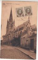 Poperinge, Poperinghe,  O.L. Vrouw kerk, 2 x postzegel OCB 245 (pk16750)