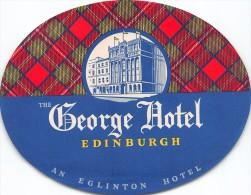 """01464 """"THE GEORGE HOTEL - EDINBURGH""""  ETICHETTA ORIGINALE. - Adesivi Di Alberghi"""