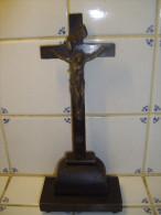 CHRIST CROIX CRUCIFIX SUR SOCLE 24 Cm - Autres