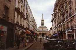 75  PARIS Eglise ST Jean Baptiste De Grenelle  Vue De La Ruedu Commerce, Automobiles 4L - Eglises