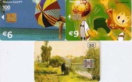 *PORTOGALLO* - Lotto Di 3 Schede Usate Differenti - Portogallo