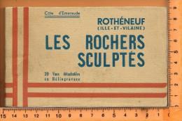 ROTHENEUF: Carnet 20 Vues Editions Hôtel-Restaurant Brebion, - Rotheneuf
