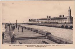 (R),    MANCHE , CHERBOURG , La Nouvelle Gare Maritime ; La Petite Jetée - Cherbourg