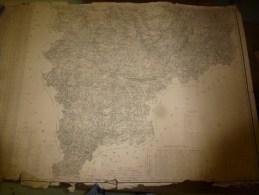1846? Carte STATISTIQUE Des Cantons De SANCERRE, BOURGES ,St-AMAND, Gravée Par Schwaerzlé, Lith.Kaeppelin Quai Voltaire - Geographical Maps