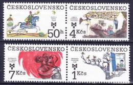 ** Tchécoslovaquie 1983 Mi 2723-6 (Yv Timbres De BF 61), (MNH) - Tschechoslowakei/CSSR