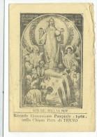 DIS396 - SANTINO HOLY CARD - PIEGHEVOLE COMUNIONE PASQUALE 1948 - TENNO TRENTO - Santini