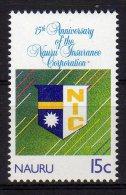 Nauru 1989 15th Anniversary Nauru Insurance Corporation Mint - Nauru