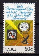 Nauru 1989 10th Anniversary Asian Pacific Telecommunity And World Telecommunications Day Mint - Nauru