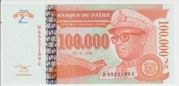 Zaire 100000 Nouveaux Zaire 1996 Pick 77 UNC - Zaire