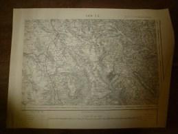 1879 : Carte De GIEN  (S.E.)  ,levées Par Les Officiers , Imprimerie Zinconographique Du Dépot De La Guerre - Geographical Maps