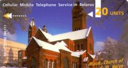 BELARUS PHONECARD(GPT) ST.SIMON & ST.HELEN MINSK ENGLISH TEXT CN:1CWMB -11000pcs-1995-USED(1) - Belarus