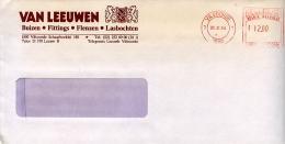 EMA Sur Enveloppe Entete Van Leeuwen,tube E Ecier,Buizen,Fittings,Flenzen,Lasbochten,lettre Vilvoord,Belgique,30.11.84 - Factories & Industries